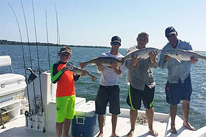 Pine Island Fl family of redfish fishermen
