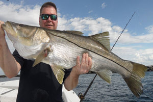 World record snook with captain Dave Pomerleau
