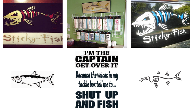 Saltwater Fishing Decals Vinyl Stickers Boats Trucks Kayaks - Boat stickers and decals